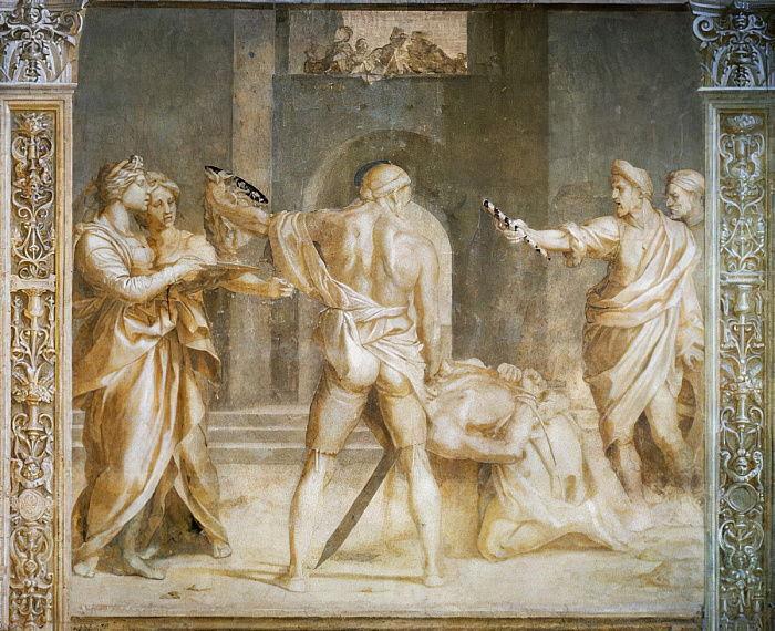 Andrea del Sarto, Decollazione del Battista (1523; affresco; Firenze, Chiostro dello Scalzo)