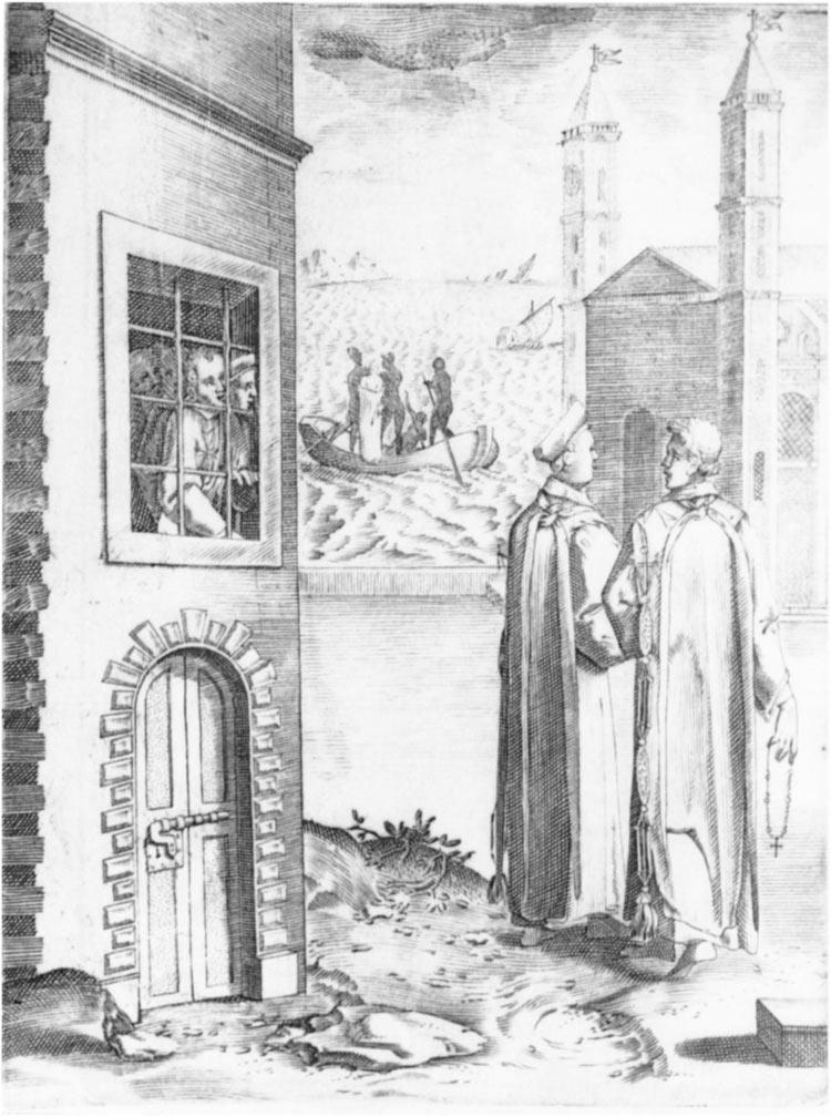 Philippe Thomassin, De prohibitionibus et poenis, illustrazione per lo Statuto XVIII degli Statuta hospitalis Hierusalem (incisione, 183 x 138 mm; Washington, Catholic University of America)