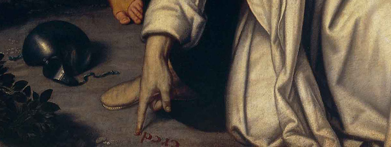 Moretto, Martirio di san Pietro martire, dettaglio (1533-1534 circa; olio su tela, 310 x 163 cm; Milano, Pinacoteca Ambrosiana)