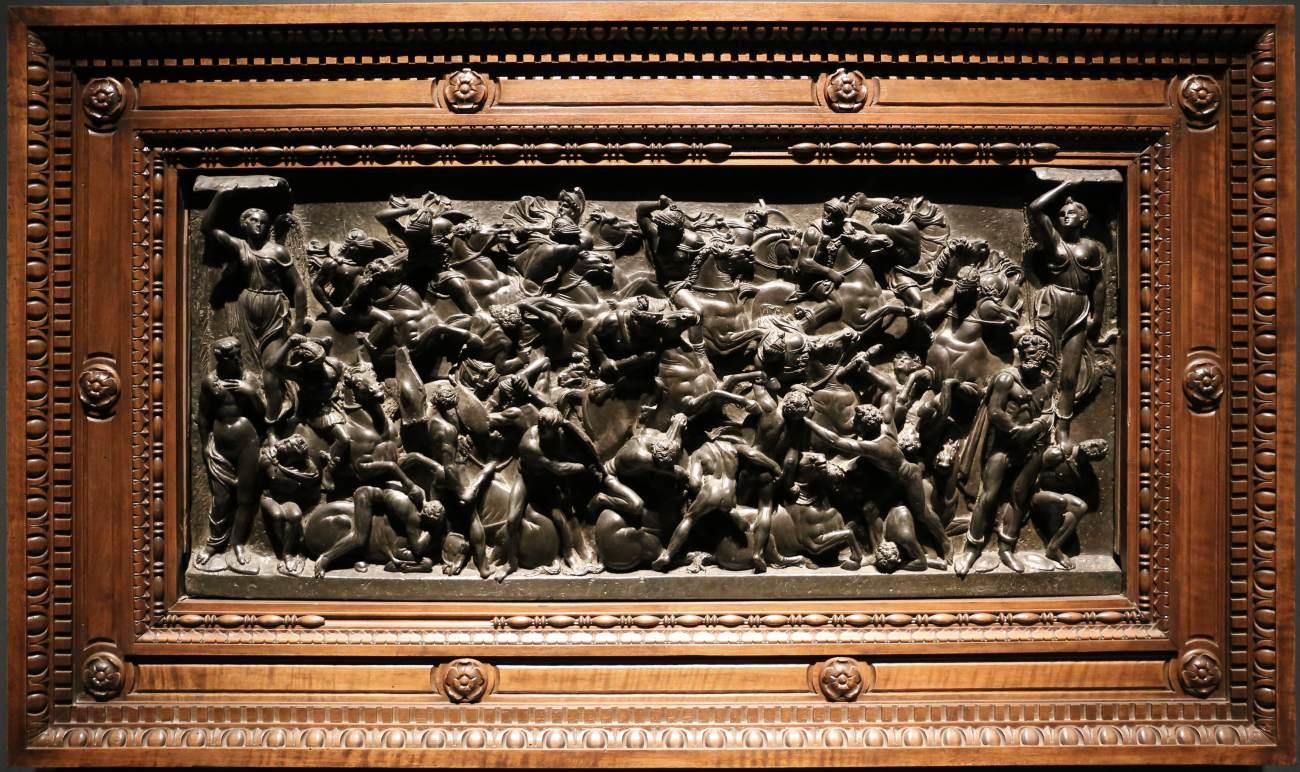 Bertoldo di Giovanni, Battaglia (1480-1485 circa; bronzo, 45 x 99 cm; Firenze, Museo Nazionale del Bargello)