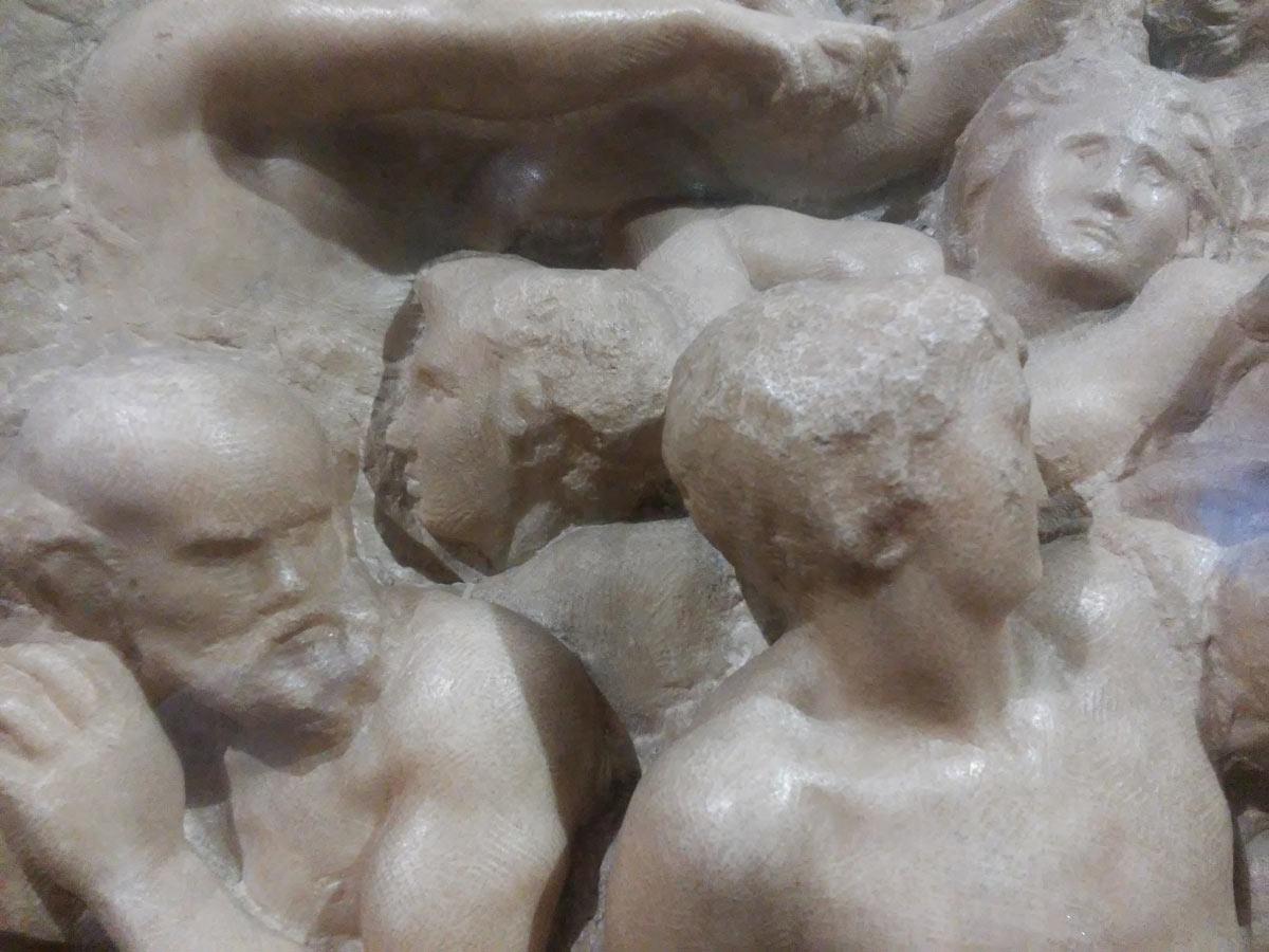 Michelangelo, Battaglia dei centauri, dettaglio