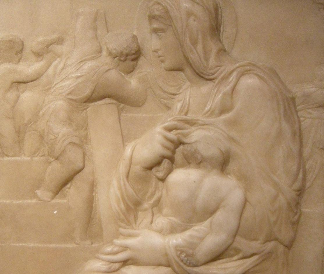Michelangelo, Madonna della Scala, dettaglio