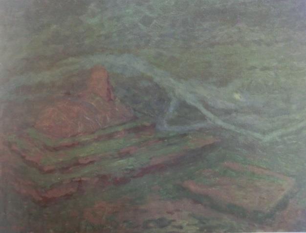 Jaroslav Panuška, Duch na hřbitově (Spirito nel cimitero) (1900; olio su cartone, 50 x 66 cm; Pardubyce, Východočeská galerie v Pardubicích)