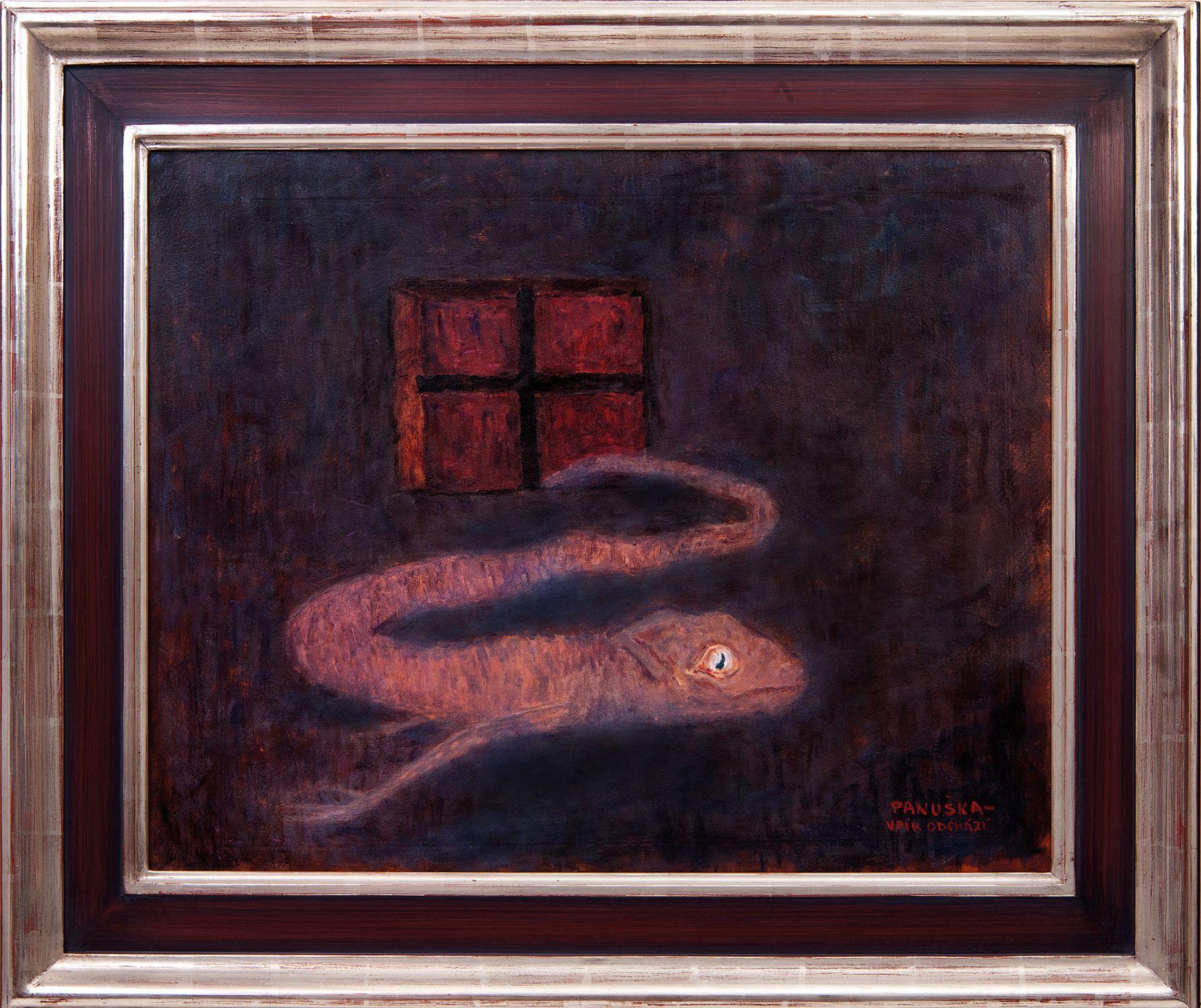 Jaroslav Panuška, Upir, Vampiro (1900 circa; olio su cartone, 50 x 63 cm; Collezione privata)