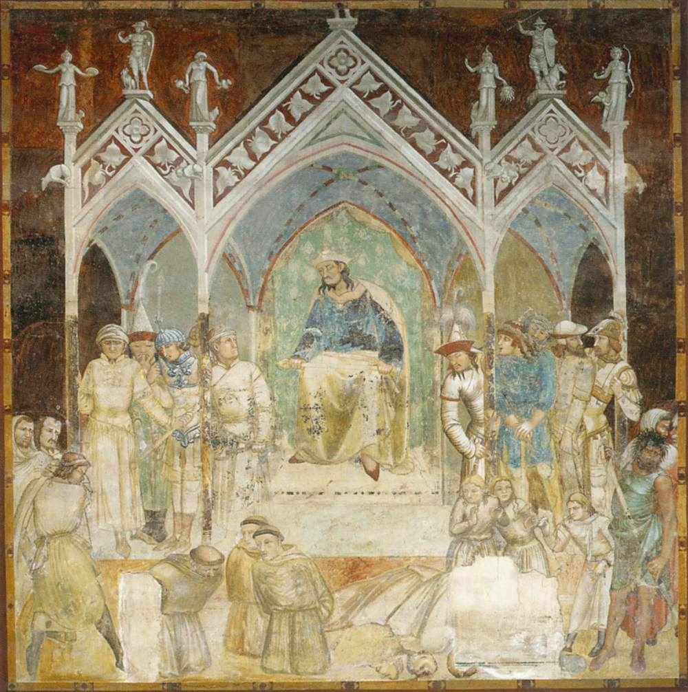 Ambrogio Lorenzetti, Martirio dei francescani (primi anni Venti del XIV secolo; affresco; Siena, Basilica di San Francesco)