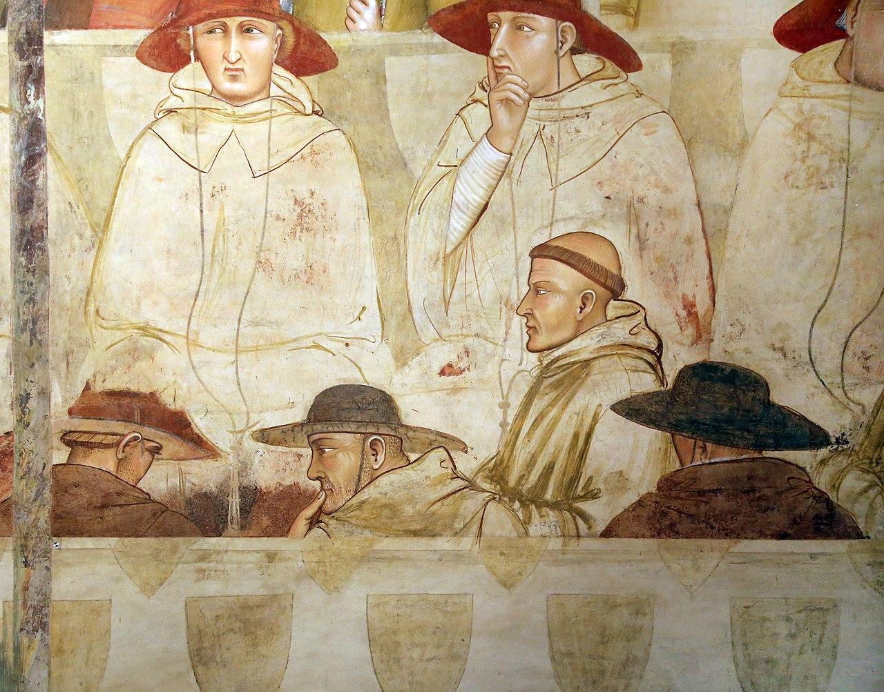 Ambrogio Lorenzetti, Professione pubblica di San Ludovico di Tolosa, dettaglio. Ph. Credit Francesco Bini