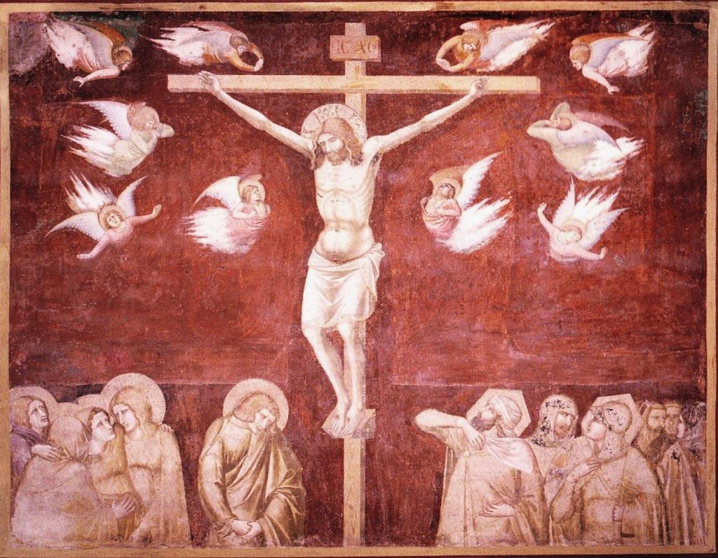 Pietro Lorenzetti, Crocifissione (primi anni Venti del XIV secolo; affresco; Siena, Basilica di San Francesco)