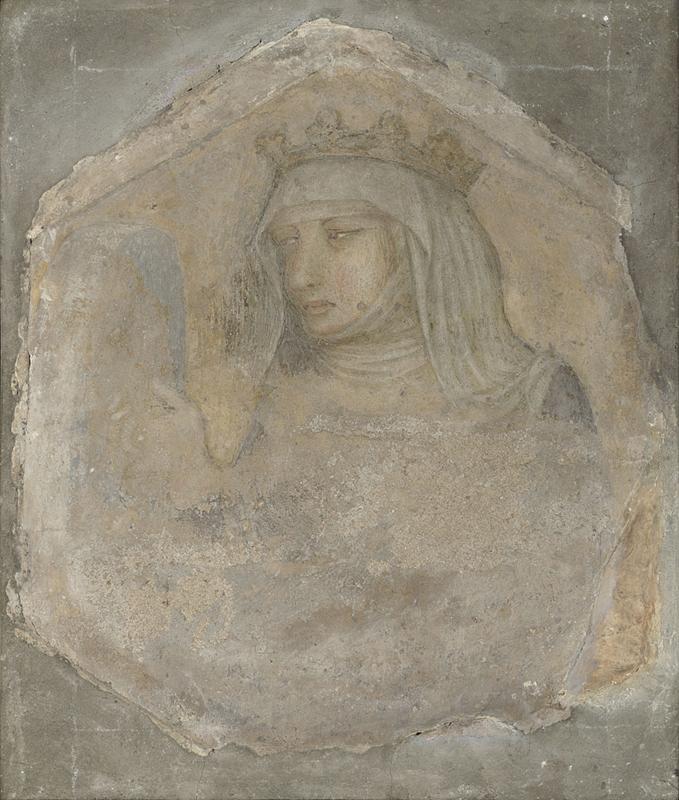 Pietro Lorenzetti, Santa Elisabetta d'Ungheria (primi anni Venti del XIV secolo; affresco staccato, 38 x 33 cm; Londra, National Gallery)