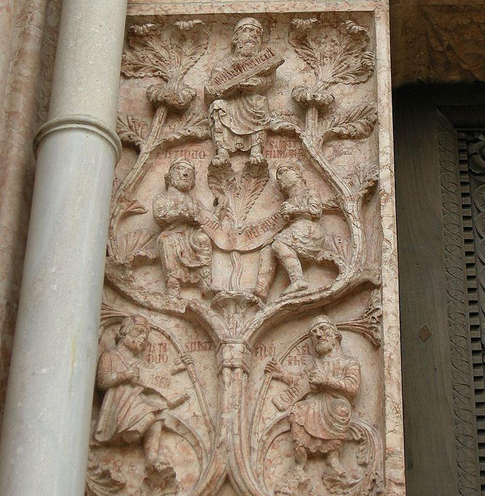 Dettaglio dell'albero genealogico di Giacobbea. Ph. Credit Francesco Bini