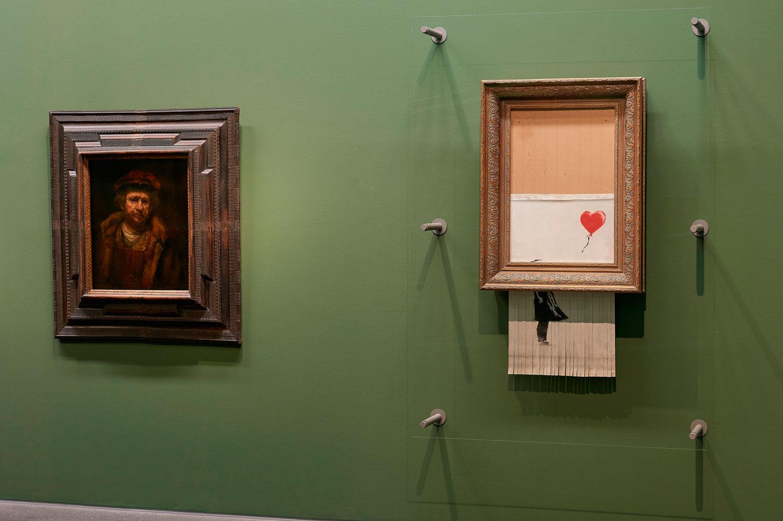 Banksy esposto vicino a Rembrandt alla Staatsgalerie di Stoccarda