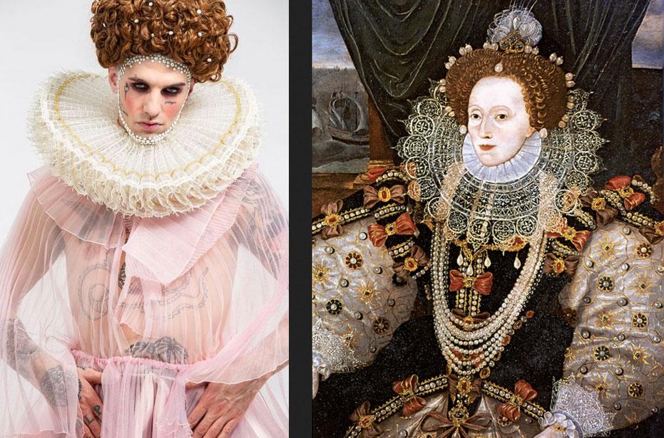 Achille Lauro chiude il Festival con Elisabetta I e una storia dell'arte camp da Crivelli a Tiepolo