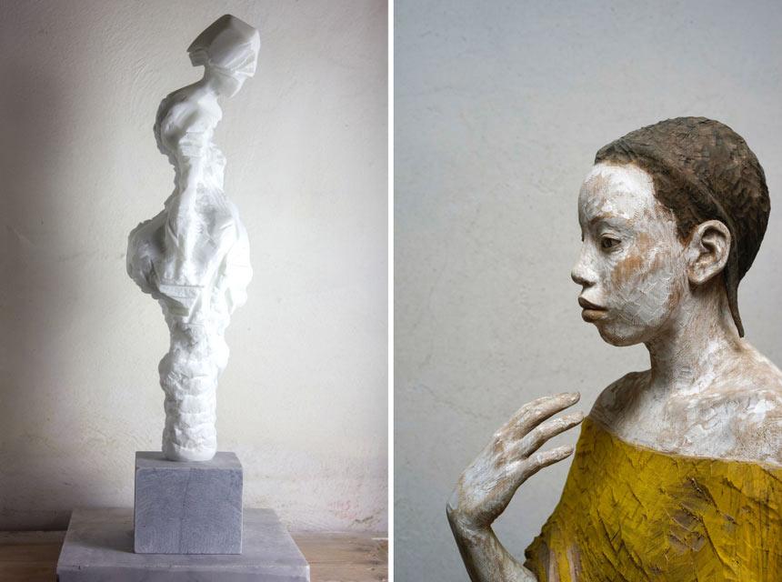 Legno e marmo a confronto: a Pietrasanta, la doppia personale di Bruno Walpoth e Alex Rane