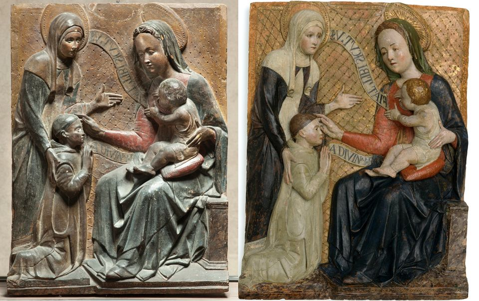 Sorprendente restauro al Castello Sforzesco: la terracotta rinascimentale rivela i suoi colori