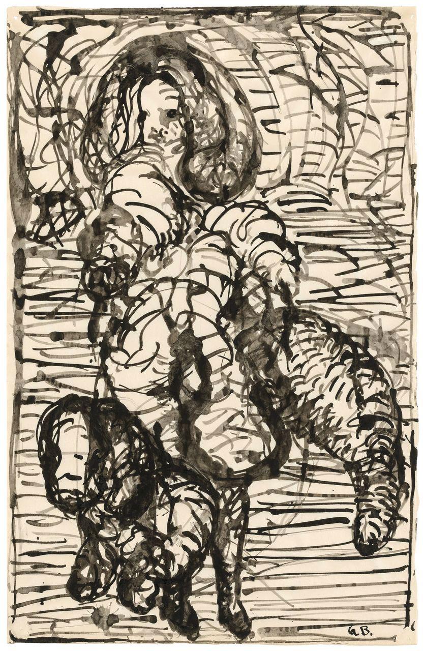 Georg Baselitz dona un suo importante disegno alle Gallerie dell'Accademia di Venezia