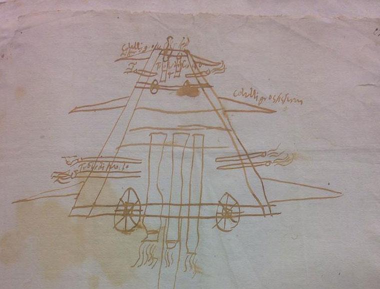 Firenze, scoperto un testo inedito di Francesco Guicciardini, accompagnato da un disegno di un carro armato