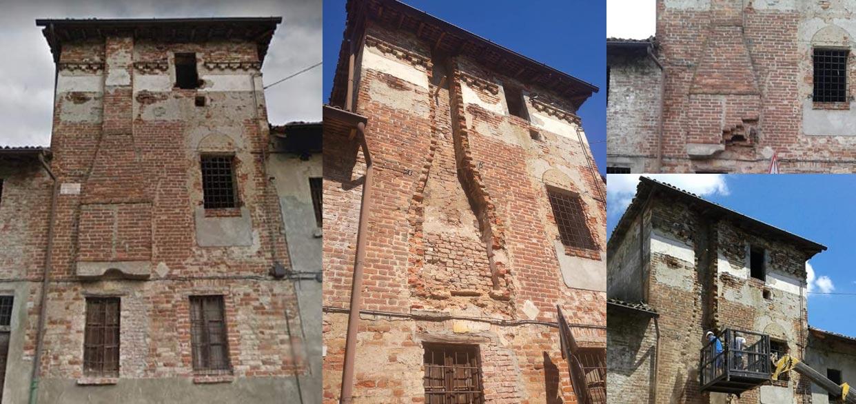 Lodi, demolita cappa esterna di una torre quattrocentesca