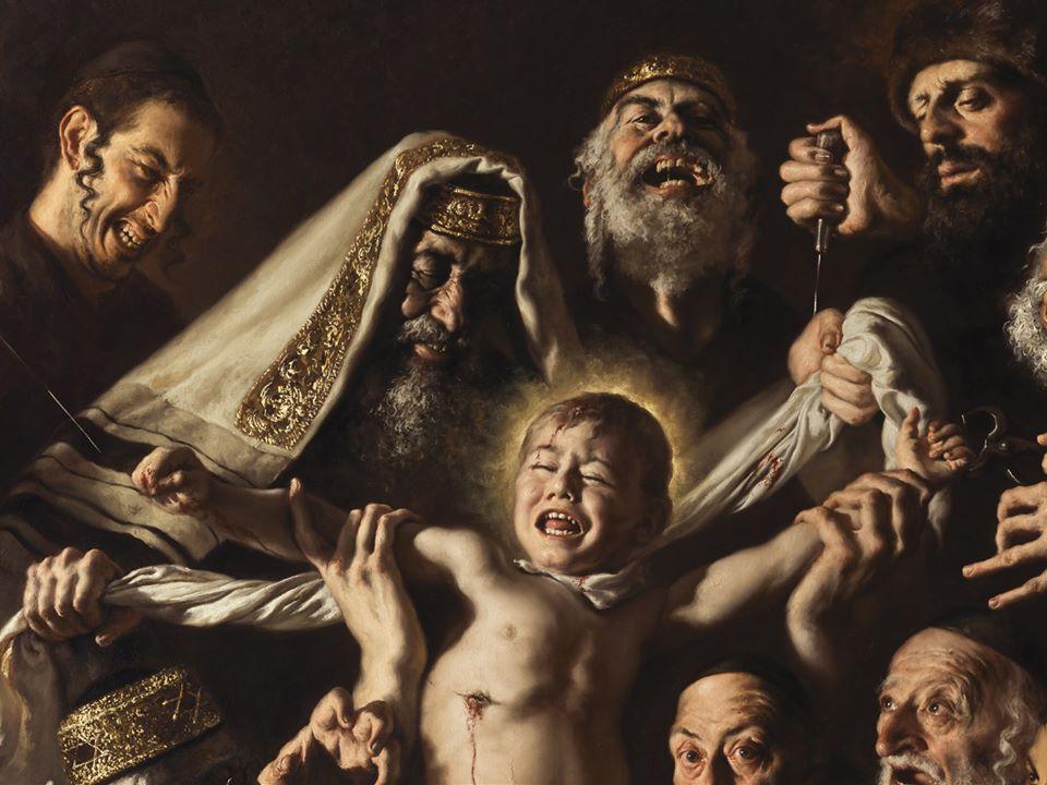 """Diventa un caso internazionale il quadro antisemita di un pittore italiano: """"inaccettabile odio antiebraico"""""""