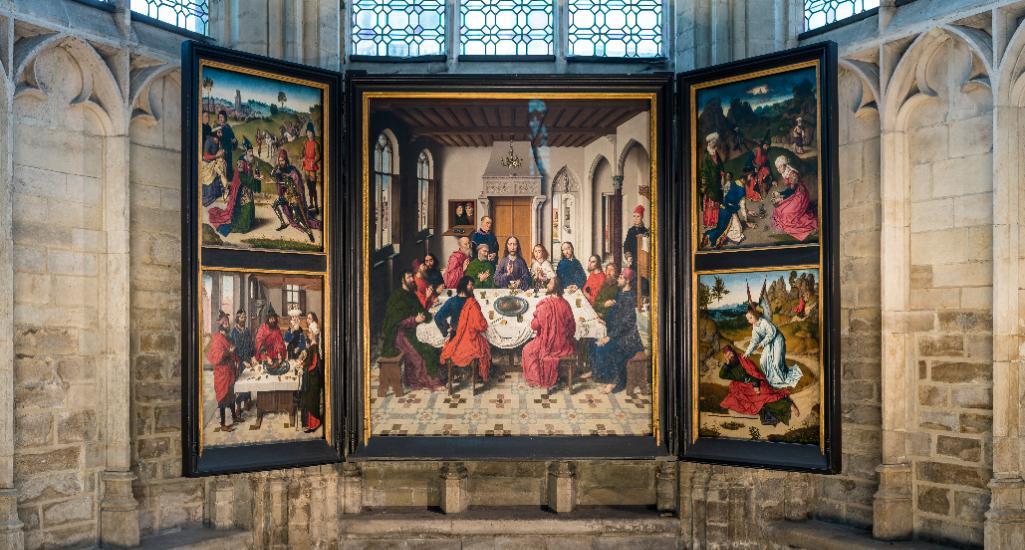 Il Trittico della cena di Dirk Bouts nella chiesa di San Pietro a Lovanio