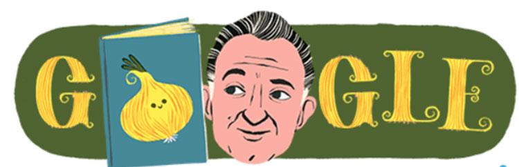 I cento anni di Rodari. Oggi il doodle di Google omaggia lo scrittore per bambini