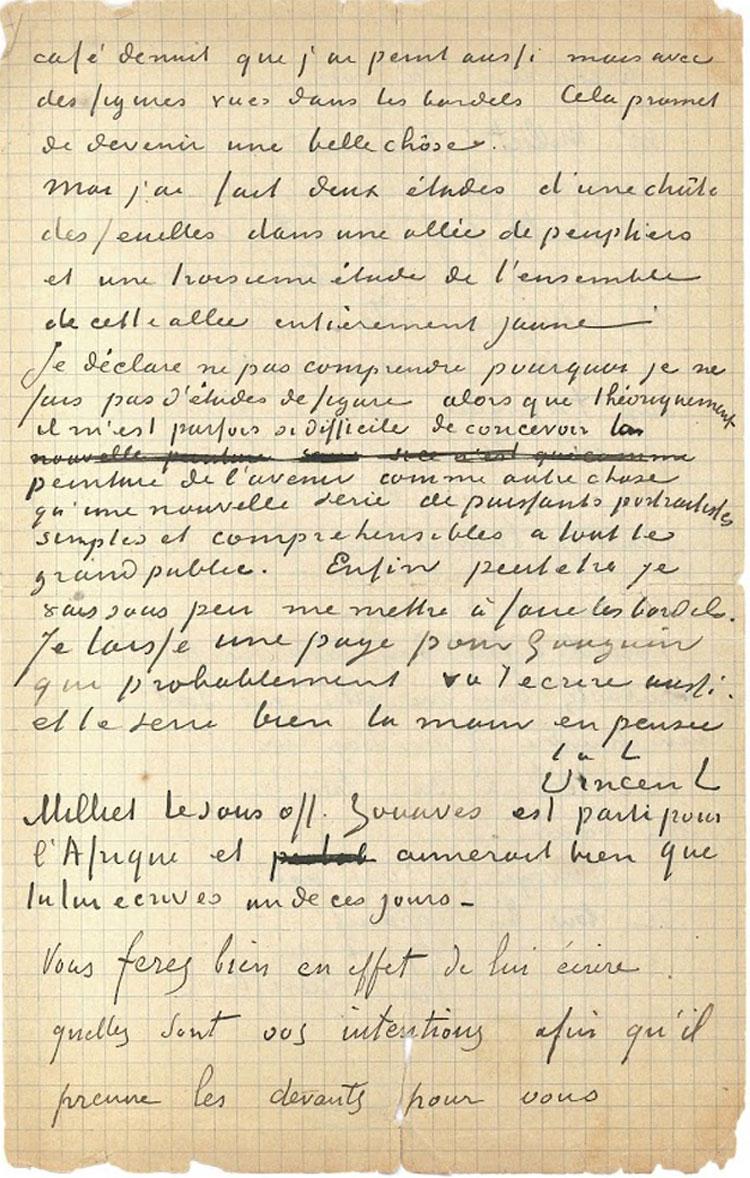 Il Van Gogh Museum acquisisce l'unica lettera che l'artista scrisse insieme a un altro artista, Gauguin