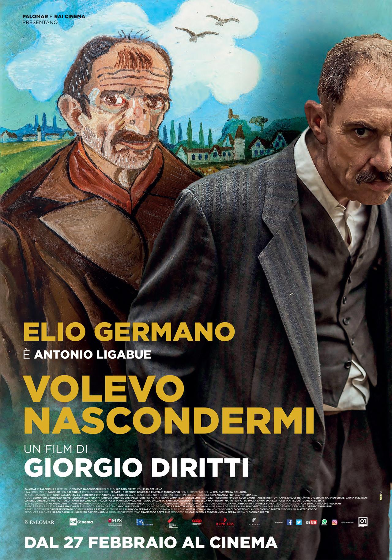 """Ecco com'è Elio Germano nei panni di Antonio Ligabue. Il film """"Volevo nascondermi"""" esce il 27 febbraio"""