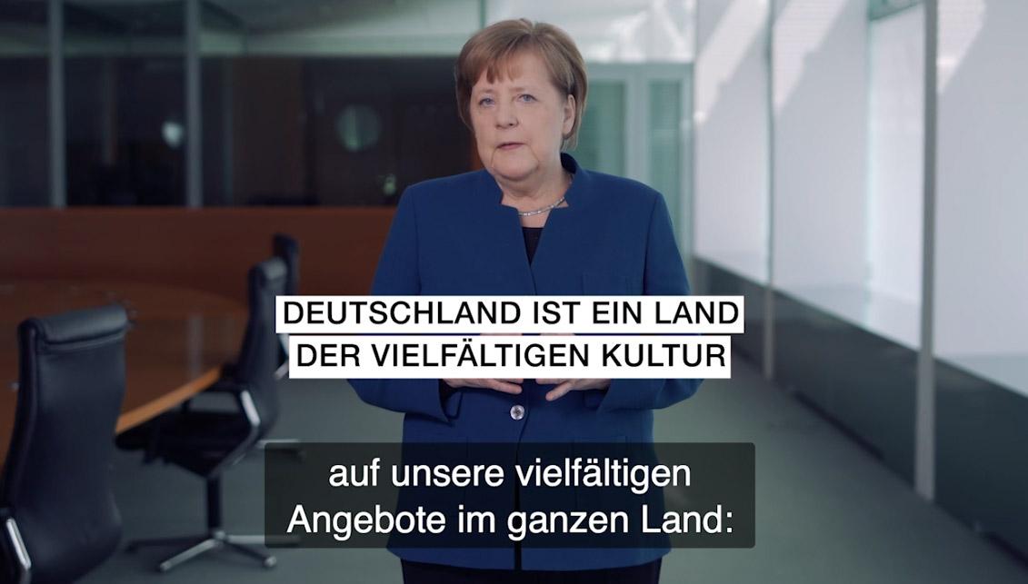ll discorso di Angela Merkel sull'importanza degli artisti per il paese
