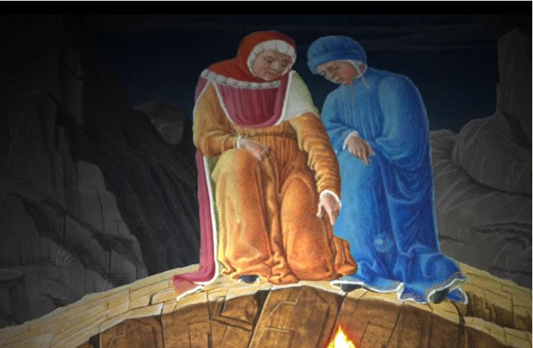 Un cortometraggio presenta Ulisse nella Divina Commedia, con la voce di Vittorio Gassman