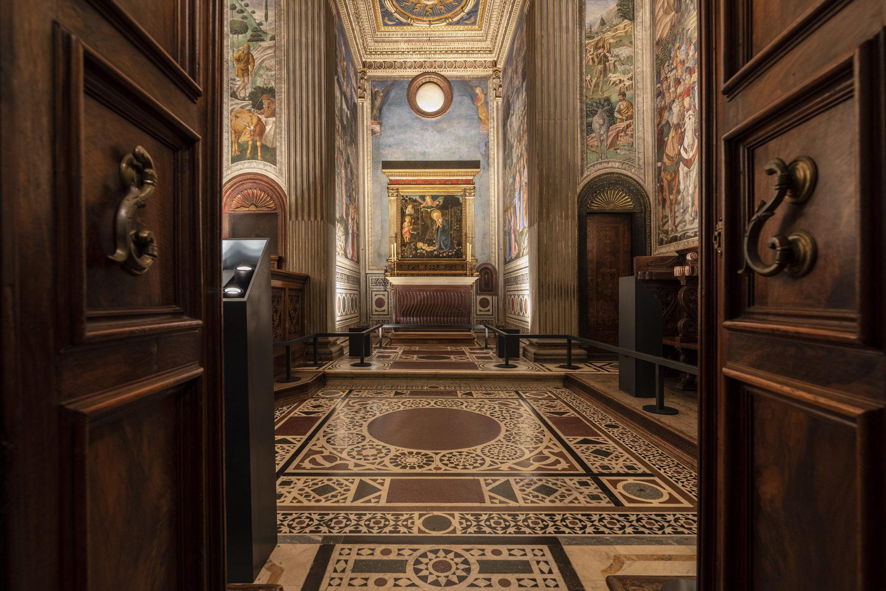 Firenze, una nuova illuminazione per la Cappella dei Magi con gli affreschi di Benozzo Gozzoli