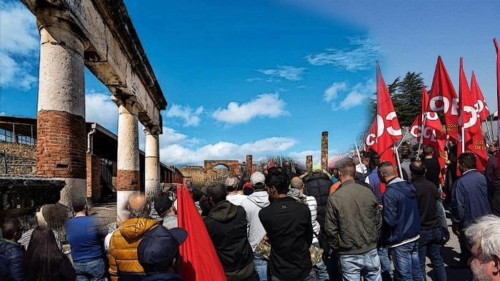 """Da Pompei a Bari monta la protesta dei precari dei beni culturali. """"Ci hanno rubato il futuro"""""""