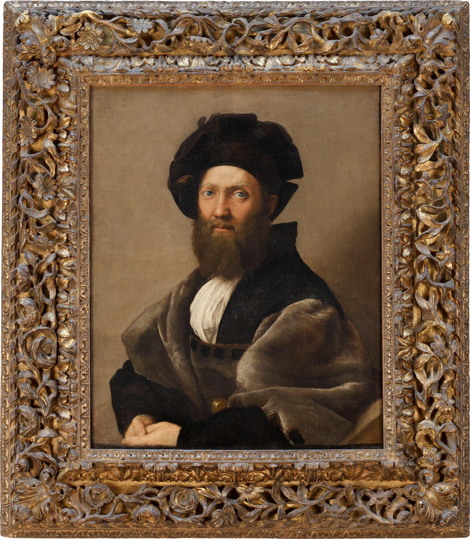 Raffaello, Ritratto di Baldassare Castiglione (1513; olio su tela; Parigi, Musée du Louvre, Département des Peintures). © Musée du Louvre, Dist. RMN – Grand Palais / Angèle Dequier