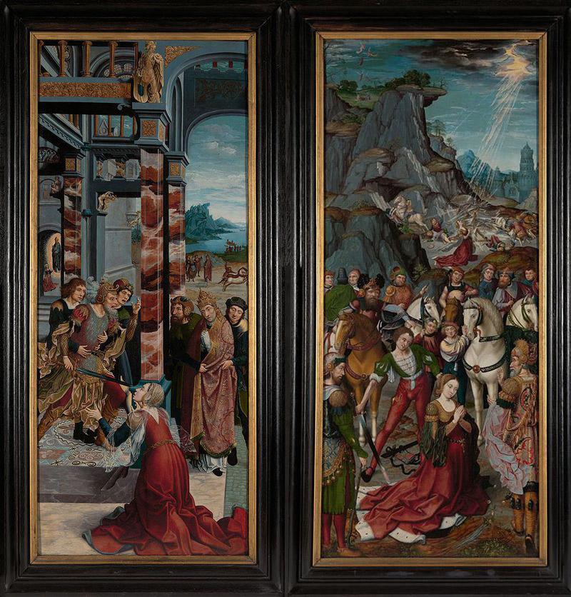 Il martirio di san Clemente e Il martirio di santa Caterina di Jan Rombouts
