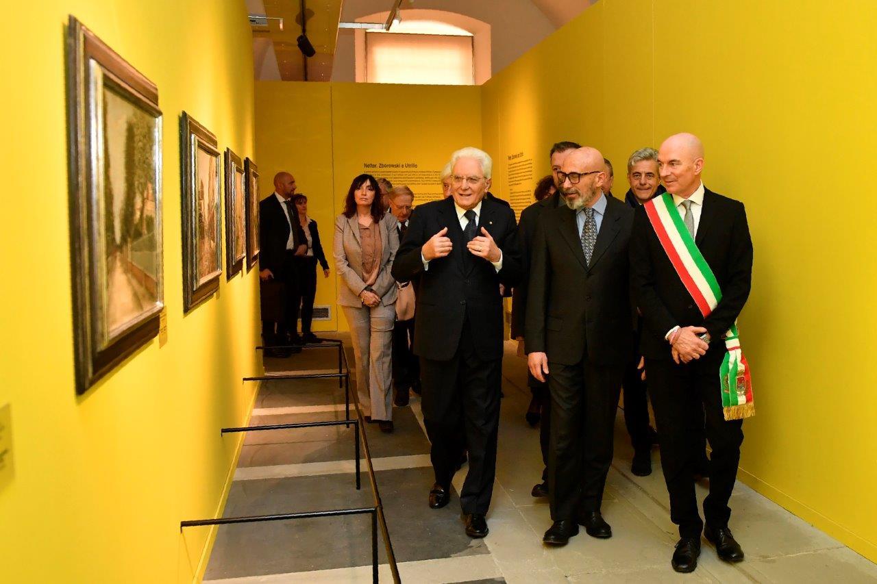"""Il presidente Sergio Mattarella visita la mostra di Modigliani a Livorno. """"Giornata indimenticabile"""""""