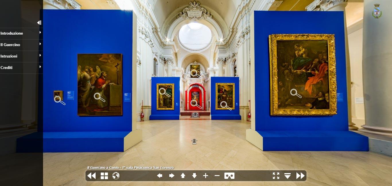 La bella mostra su Guercino a Cento è tutta visitabile da casa con un approfondito tour virtuale