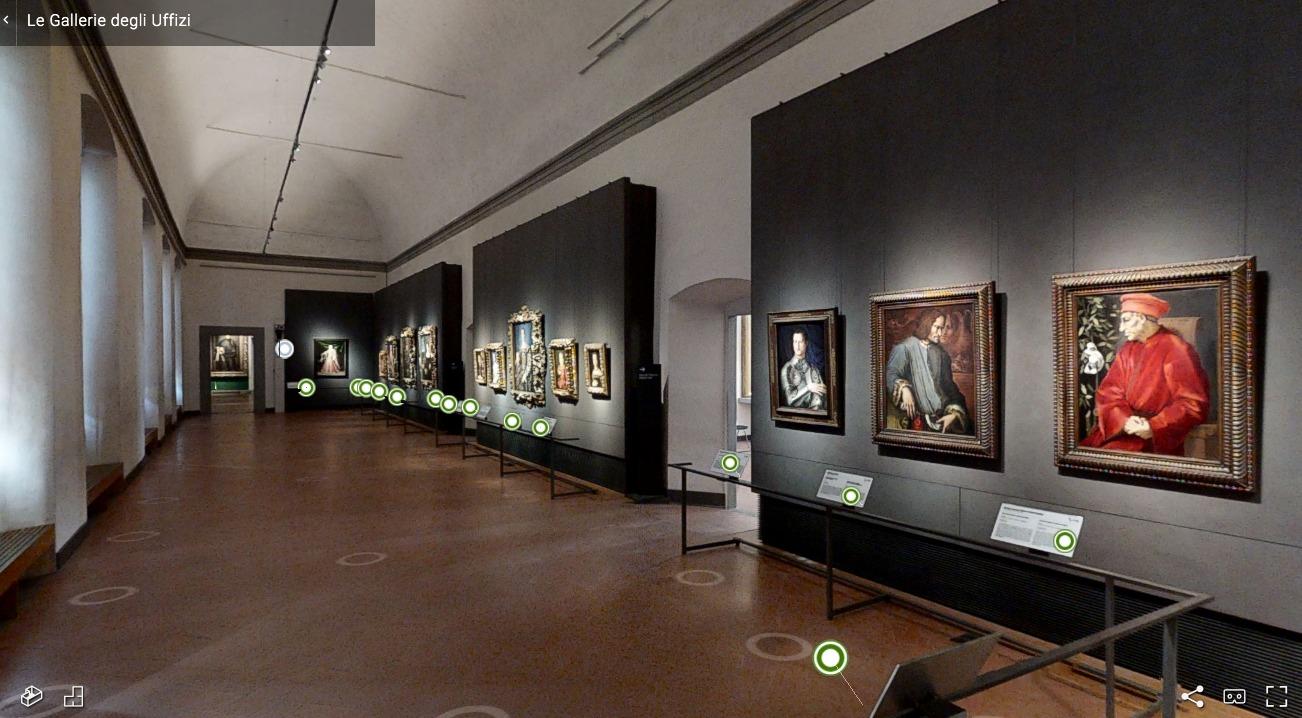 Gli Uffizi da oggi sono in parte visitabili anche da casa grazie al virtual tour