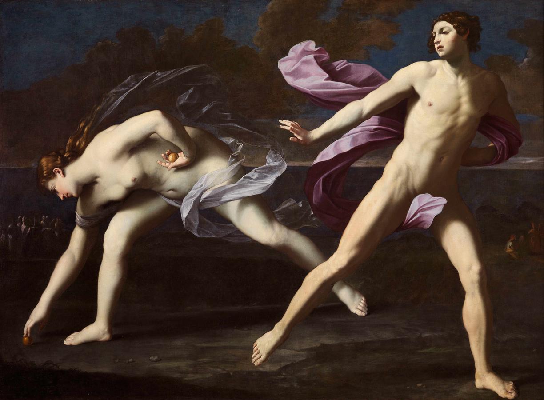 Guido Reni, Atalanta e Ippomene (1620-1625 circa; olio su tela, 192 x 164 cm; Napoli, Museo di Capodimonte)