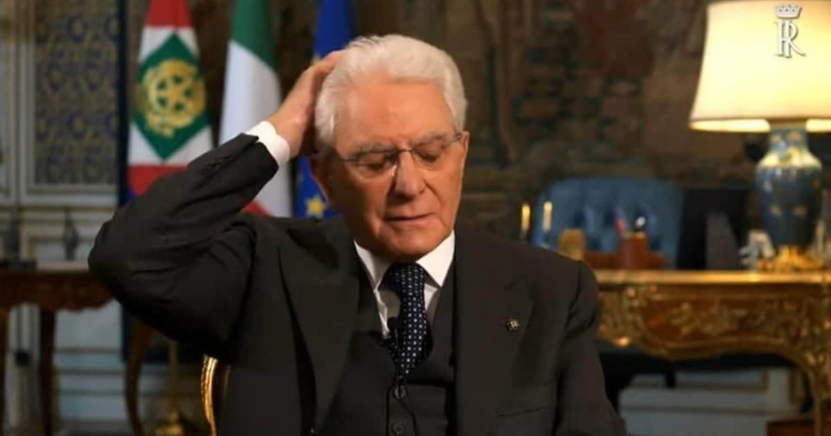 Sergio Mattarella durante il suo discorso