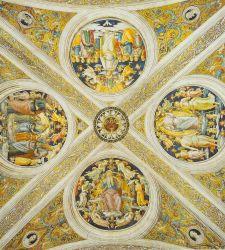 La volta della Stanza dell'Incendio di Borgo. Una nota storica importante