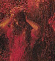 """Erompe dalla corteccia una ninfa dei boschi: la """"Ninfa rossa"""" di Plinio Nomellini"""
