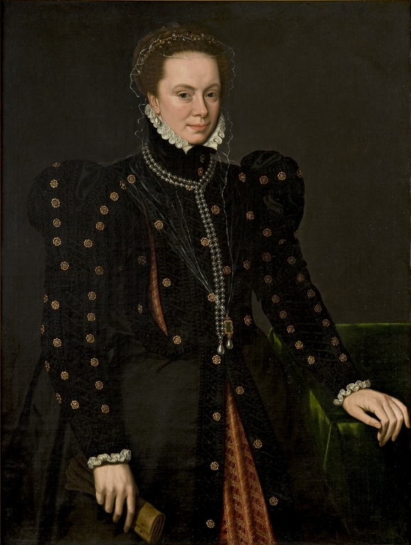 Anthonius Mor, Ritratto di Margherita d'Austria (1562-1573; olio su tela, 81,5 x 106 cm; Parma, Pinacoteca Stuard)