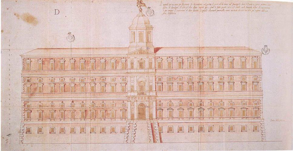 Il progetto per la facciata di Palazzo Farnese in un disegno di Giacinto Vignola, figlio di Jacopo Barozzi
