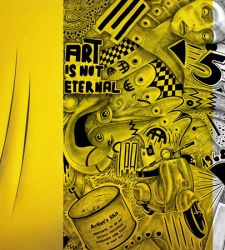 A Bologna il duo di artisti Hackatao rende omaggio a Lucio Fontana
