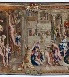 Alla Galleria Nazionale delle Marche gli arazzi raffaelleschi ricreano gli affreschi delle Stanze Vaticane