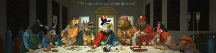 Cina, la vignetta che rivisita l'Ultima Cena di Leonardo per fare satira sul G7
