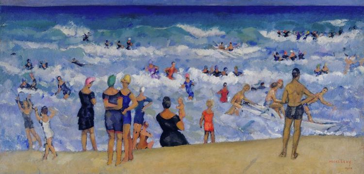 """Una spiaggia che si colora di suoni. La """"Mareggiata"""" di Moses Levy"""