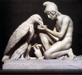 Bertel Thorvaldsen, Zeus e Ganimede, 1817, Copenaghen, Thorvaldsens Museum
