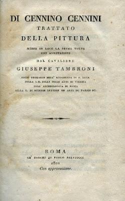 Edizione del 1821 del Libro dell'Arte di Cennino Cennini