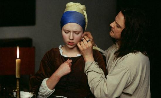 Scarlett Johansson interpreta la ragazza con l'orecchino di perla
