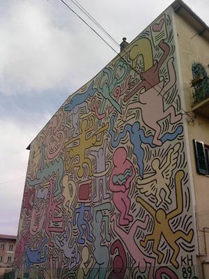 Tuttomondo di Keith Haring a Pisa