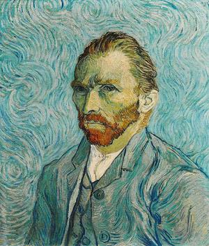 Vincent Van Gogh, Autoritratto del 1889 conservato al Musée d'Orsay di Parigi